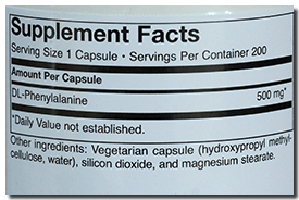 DLPA Supplement Facts